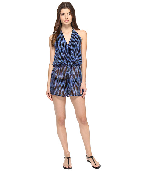 MICHAEL Michael Kors Summer Breeze Halter Romper Cover-Up