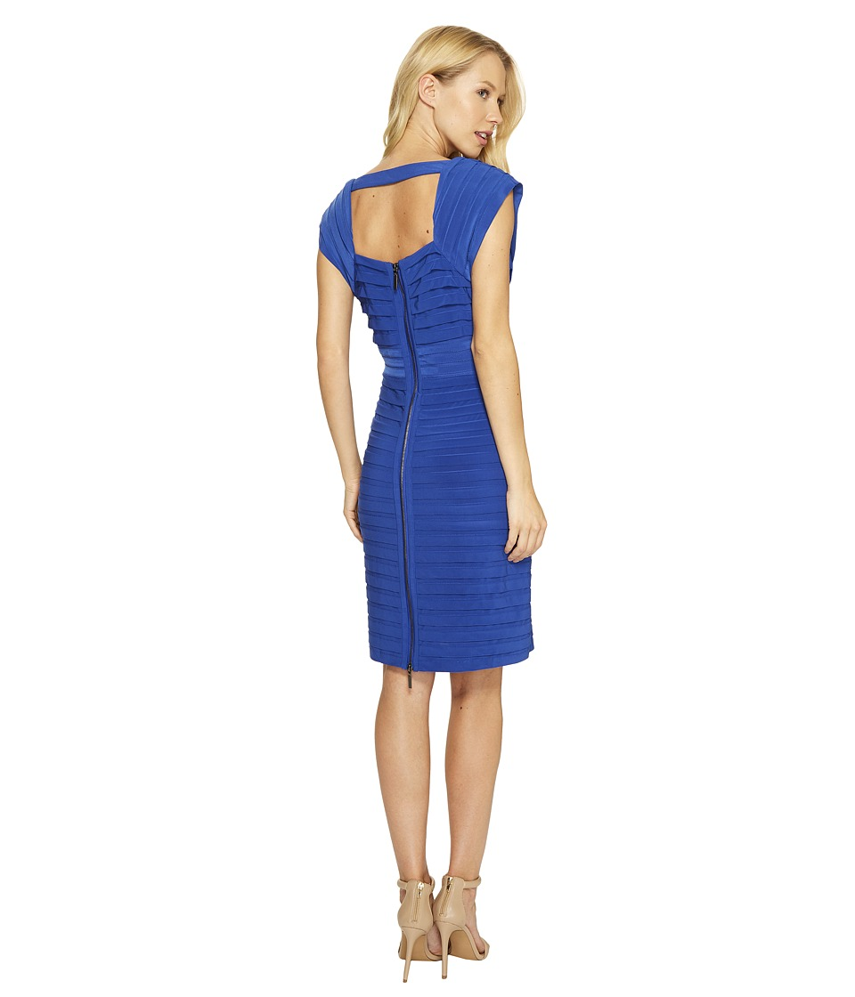 Adrianna Papell - Open Back Crossing Bands Dress