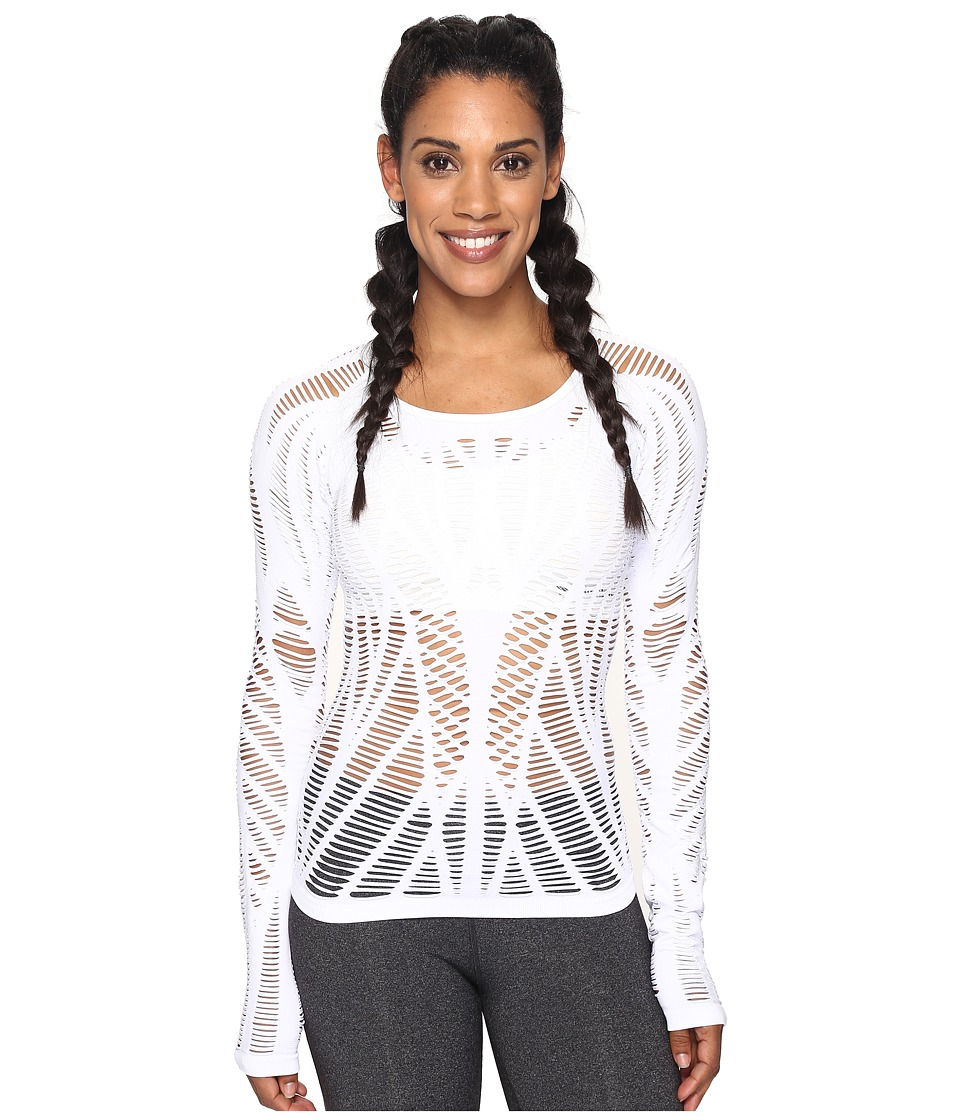ALO - Wanderer Long Sleeve (White) Womens Clothing