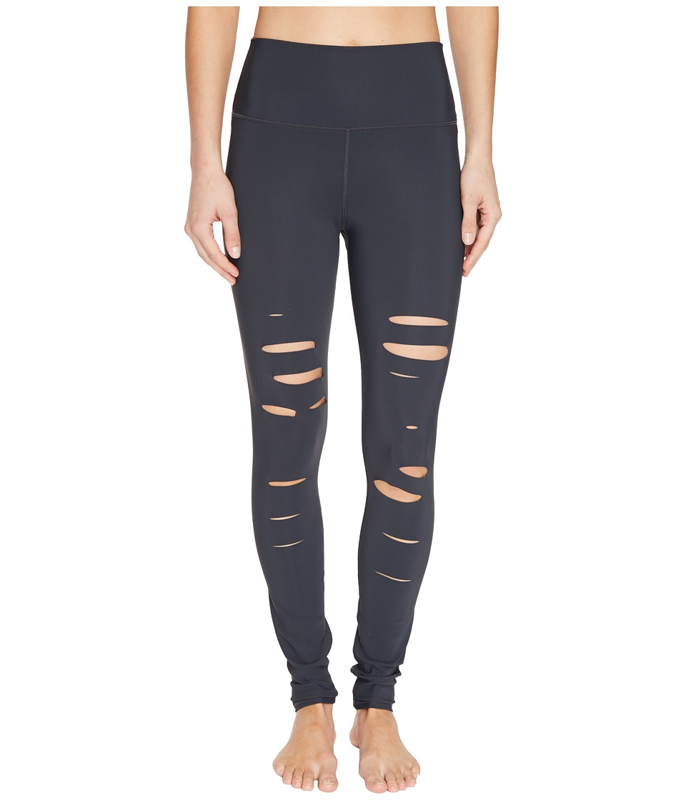 Alo Ripped Warrior Leggings (Anthracite) Women's Casual P...