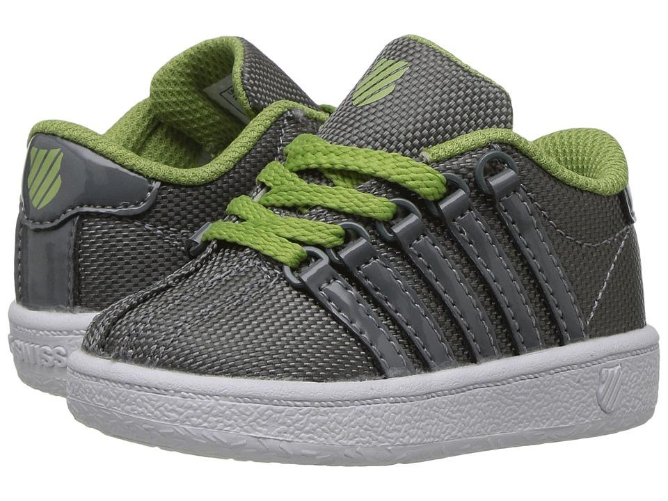 K-Swiss Kids Classic VN T (Infant/Toddler) (Neutral Grey/Tarragon/White) Boys Shoes