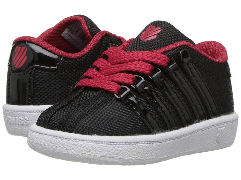 K-Swiss Kids Classic VN T (Infant/Toddler) (Black/Chili Pepper/White) Boys Shoes