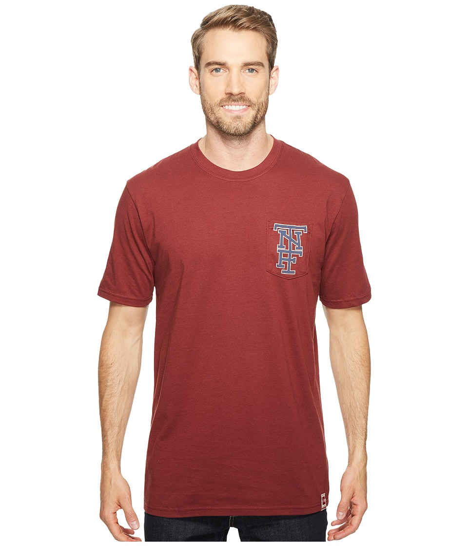 The North Face Short Sleeve Americana Pocket Tee (Barolo Red) Men