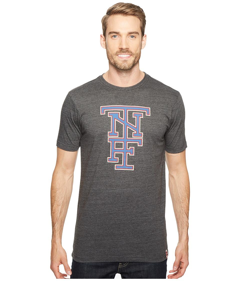 The North Face Short Sleeve American Tri-Blend Slim Tee (TNF Dark Grey Heather) Men