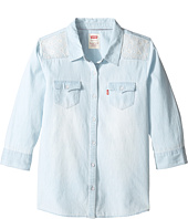Levi's® Kids - The Western 3/4 Sleeve Denim Top (Big Kids)