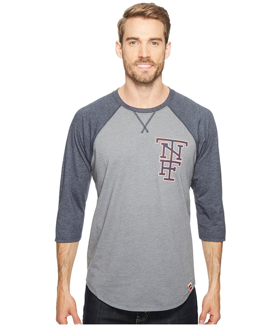 North Face 3/4 Americana Baseball Tee (TNF Medium Grey He...