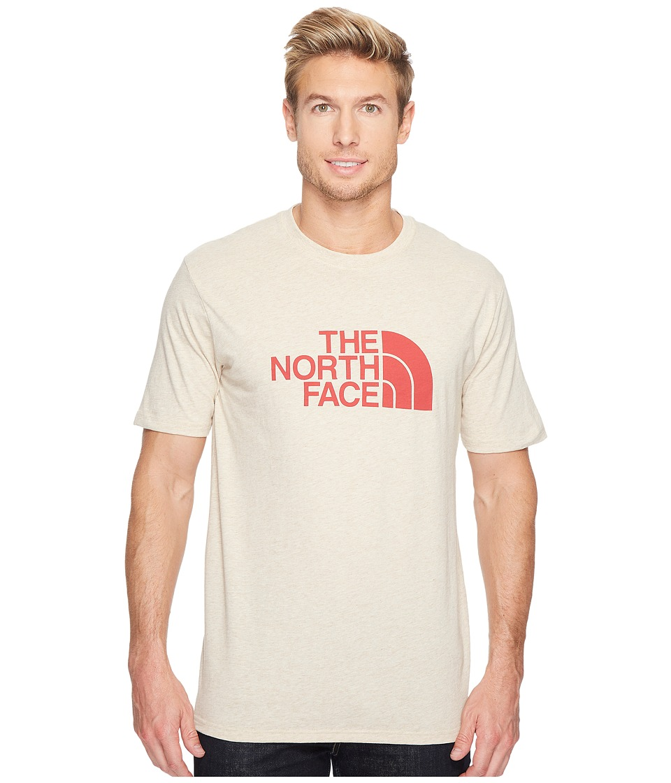 The North Face Short Sleeve Half Dome Tee (TNF Oatmeal Heather/Ketchup Red (Prior Season)) Men