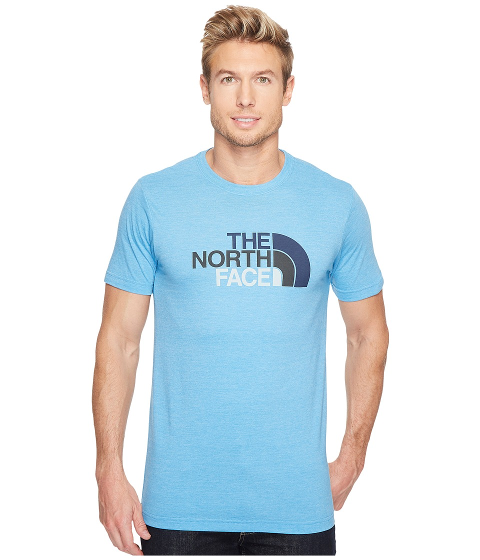 The North Face Short Sleeve Half Dome Tri-Blend Tee (Cendre Blue Heather/Urban Navy Multi (Prior Season)) Men