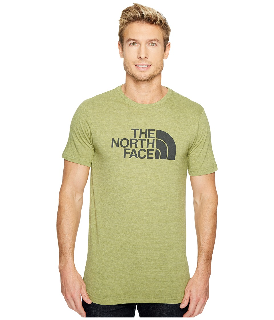 The North Face Short Sleeve Half Dome Tri-Blend Tee (Iguana Green Heather/Asphalt Grey (Prior Season)) Men