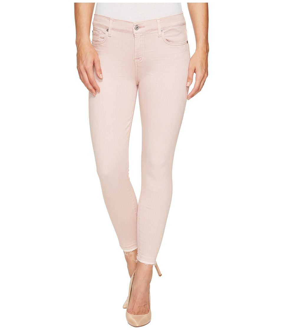 7 For All Mankind - The Ankle Skinny w/ Released Hem in Sand Washed Twill