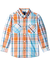 Tommy Hilfiger Kids - Sebastian Plaid Long Sleeve Woven Shirt (Big Kids)