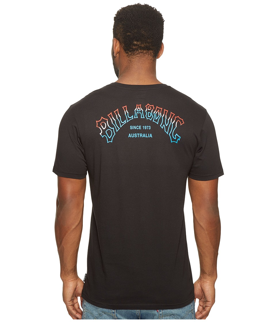 Billabong Tri Arch Printed T-Shirt (Black) Men