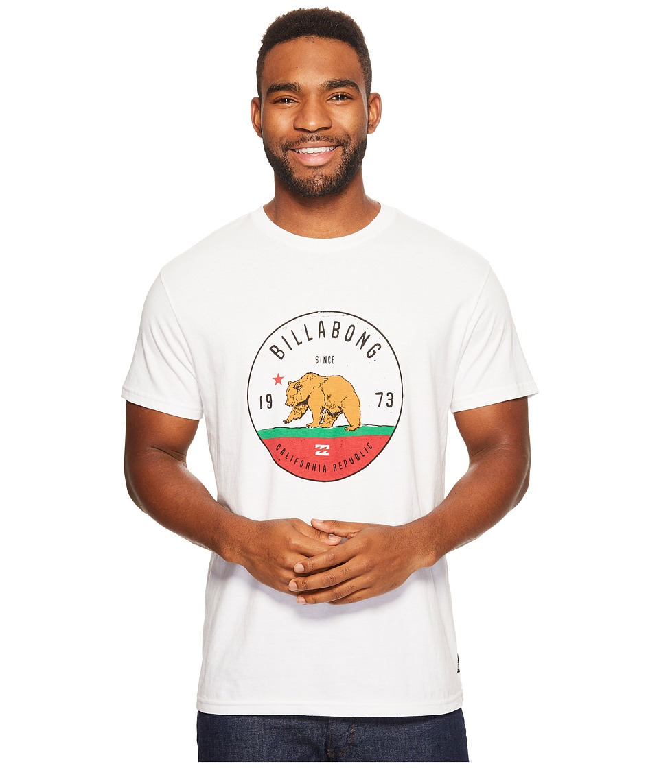 Billabong Grizzly California Printed T-Shirt (White) Men
