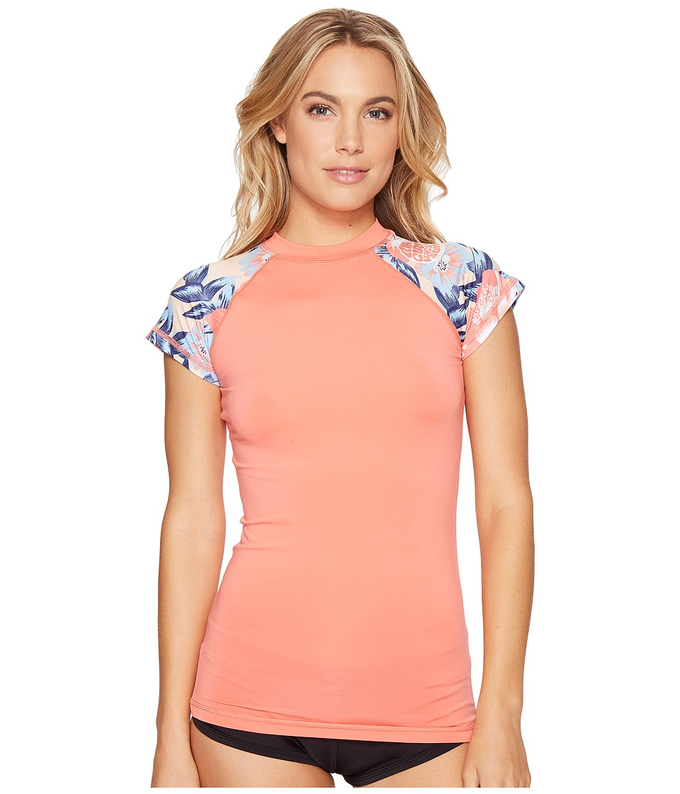 Rip Curl - Wetty Cap Sleeve (Coral) Womens Swimwear