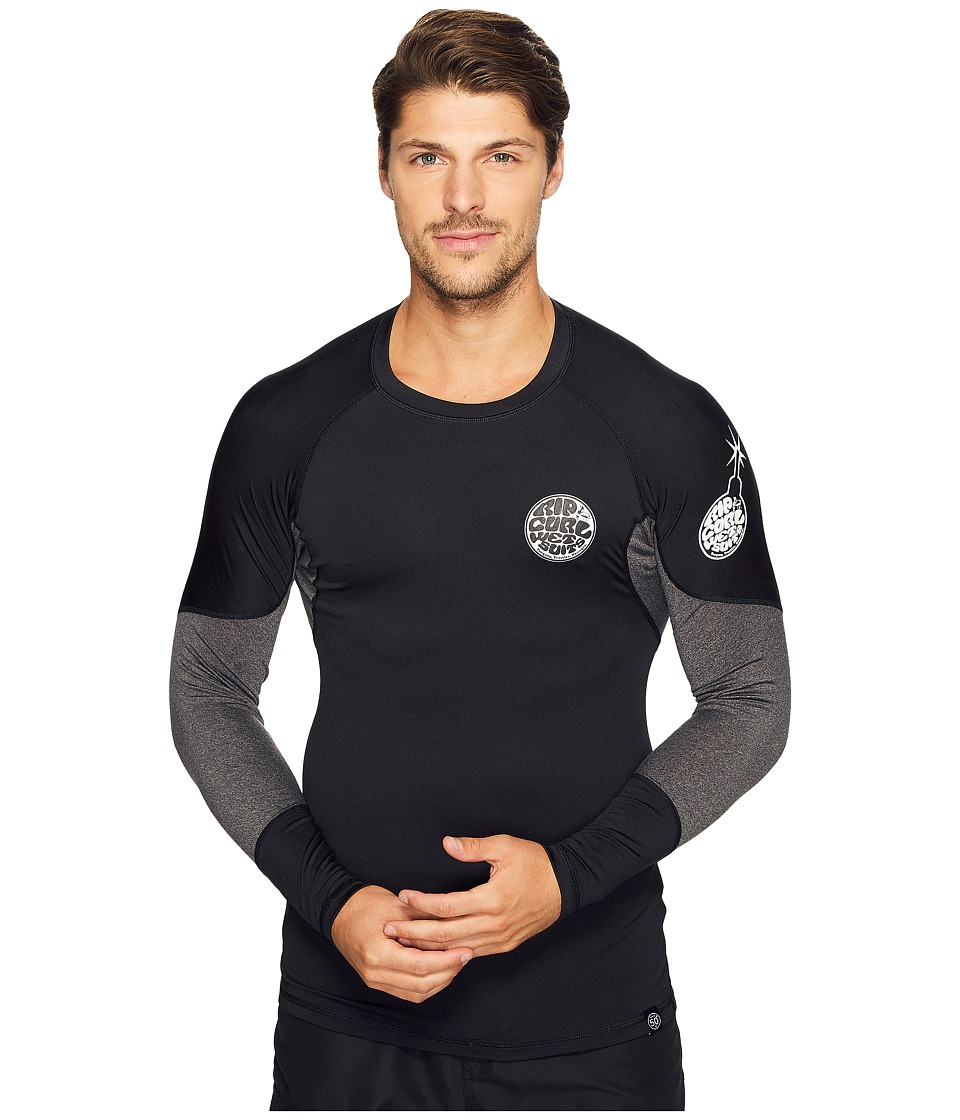 Rip Curl E Bomb Surf Rashguard Long Sleeve (Black) Men