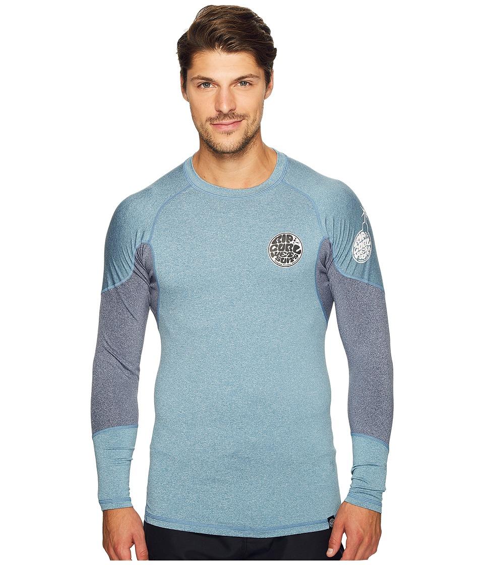 Rip Curl E Bomb Surf Rashguard Long Sleeve (Blue) Men