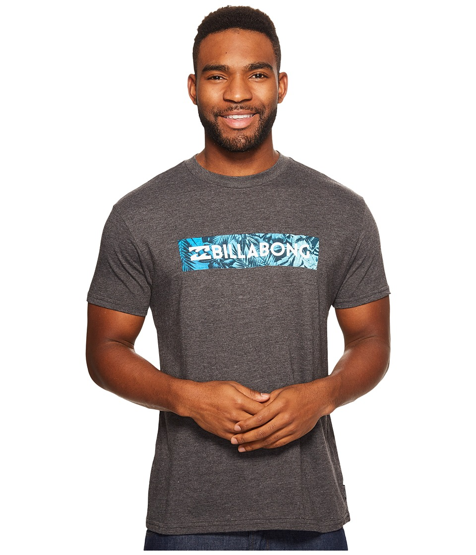 Billabong - Unity Block Printed T-Shirt (Black Heather) Men's T Shirt