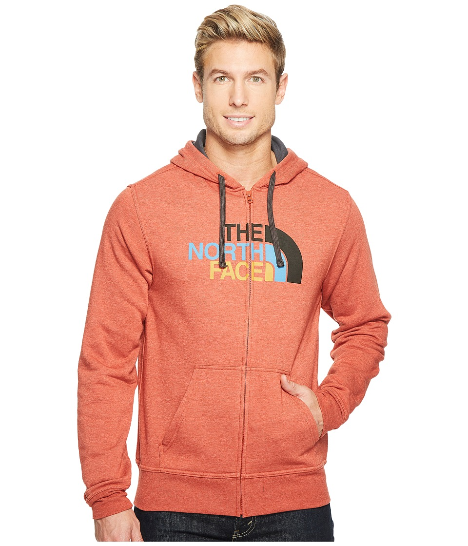 The North Face Half Dome Full Zip Hoodie (Ketchup Red Heather/Asphalt Grey Multi) Men