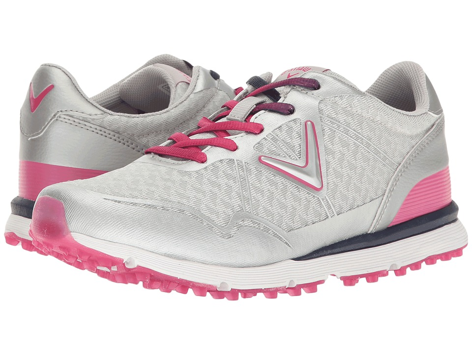 Callaway - Solaire San Clemente (Grey/Pink) Womens Golf Shoes