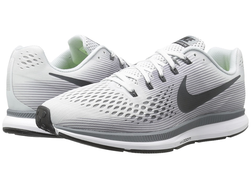 Nike Air Zoom Pegasus 34 (Pure Platinum/Anthracite) Men's...