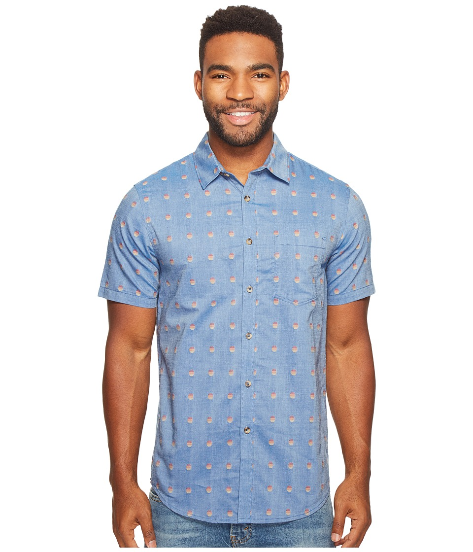 Billabong Traveller Woven Top (Harbor Blue) Men