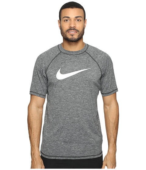 Nike Solid Heather Short Sleeve Hydro Top - Black