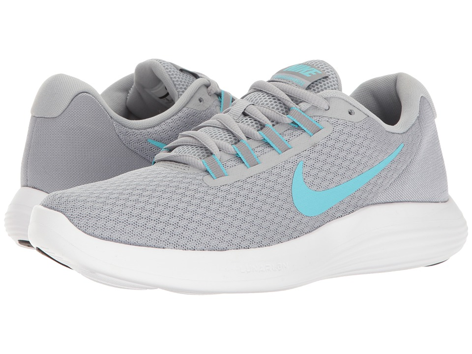 Nike - Lunar Converge (Wolf Grey/Polarized Blue/Stealth Black) Womens Shoes