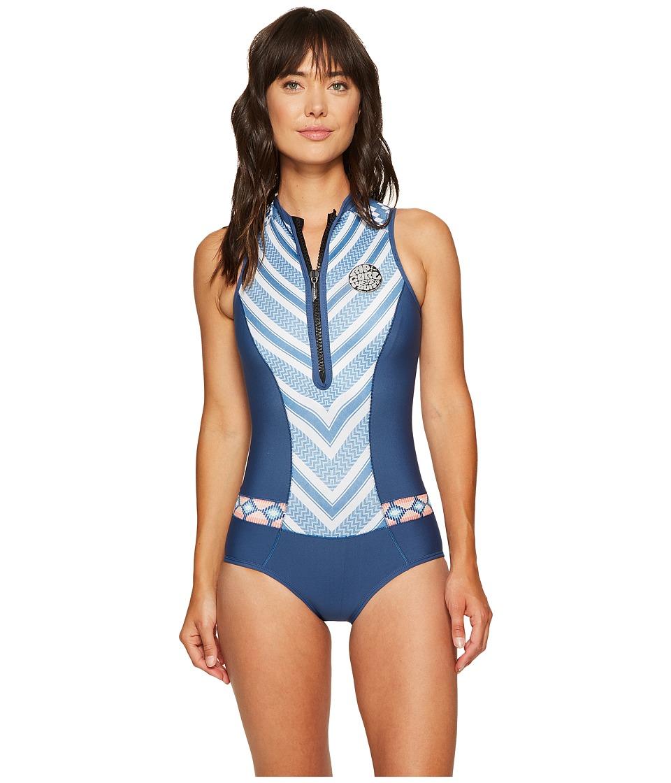Rip Curl G Bomb Sleeveless Bikini Spring Suit (Navy) Wome...