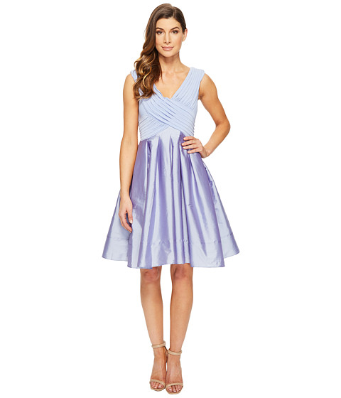 Adrianna Papell Tafetta Fit and Flare - Steel Blue