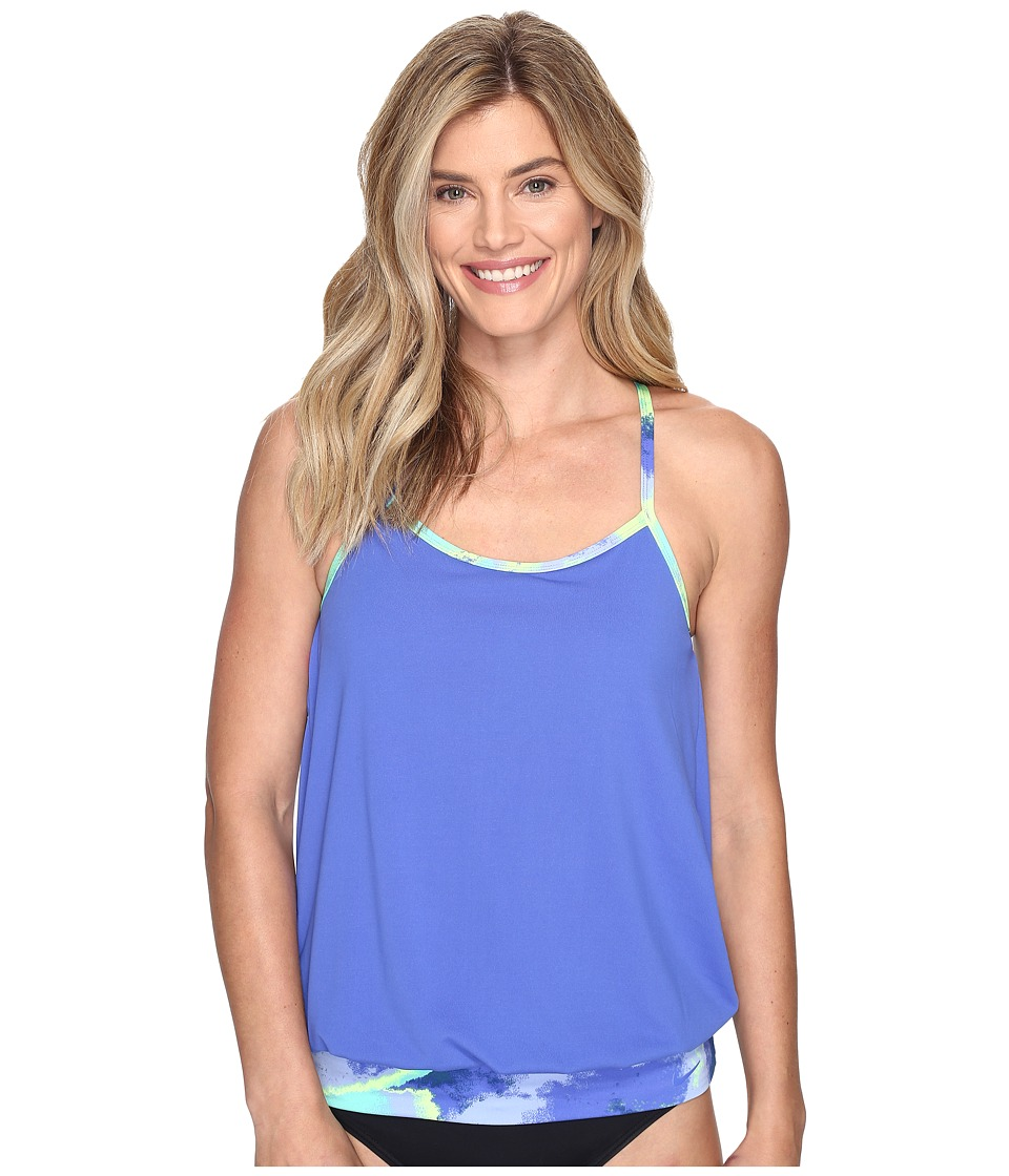 Nike Cascade Sport Tankini Top (Medium Blue)