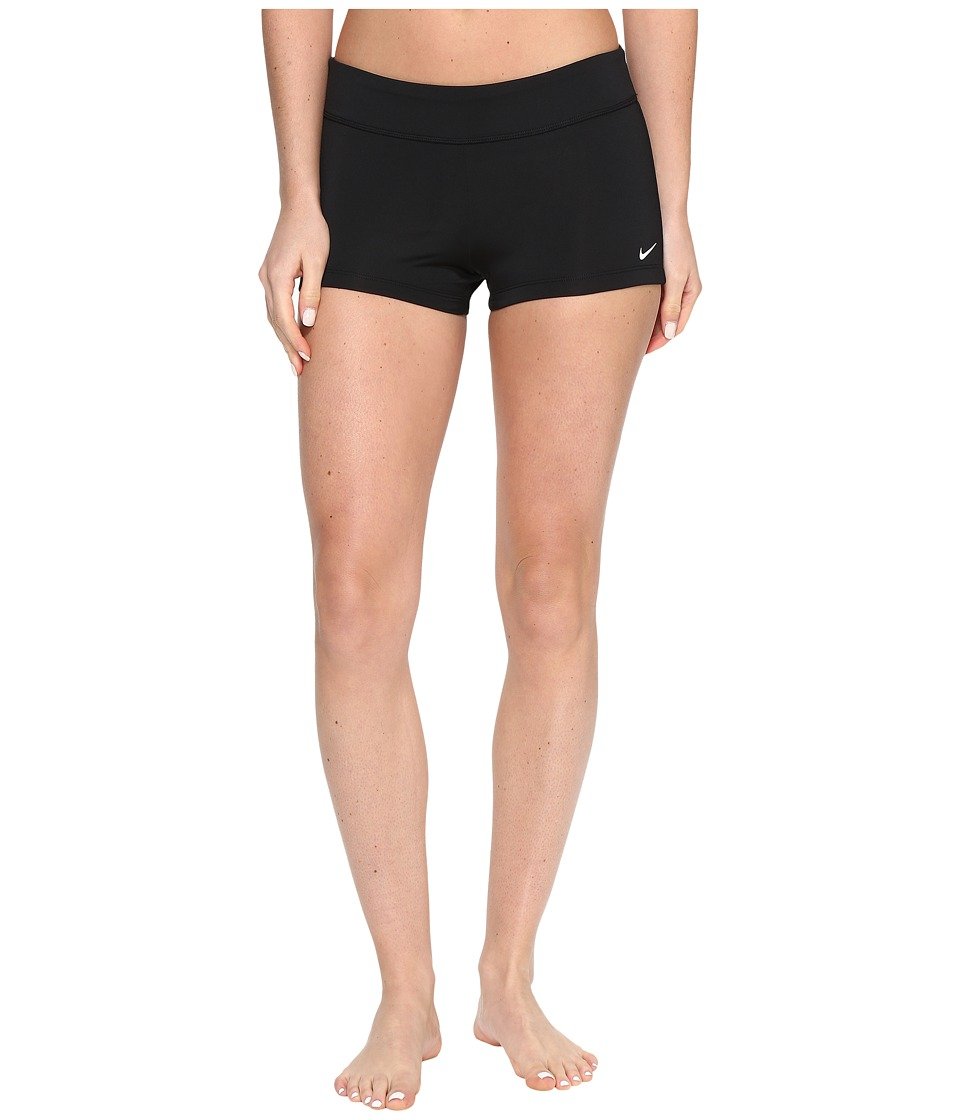 Nike Core Solid Kick Shorts (Black) Women's Swimwear