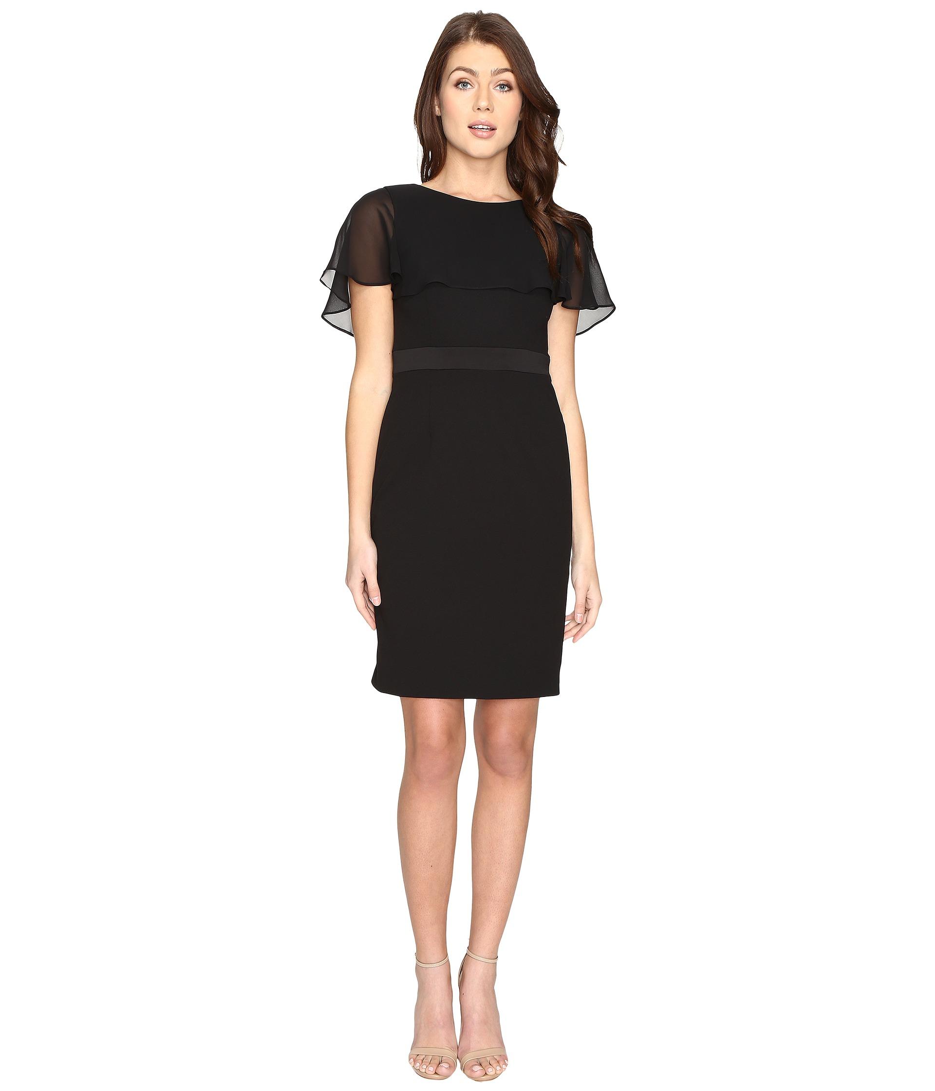 Black Chiffon Dress Black  Shipped Free at Zappos