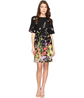 Adrianna Papell - Border Print A-Line Crepe