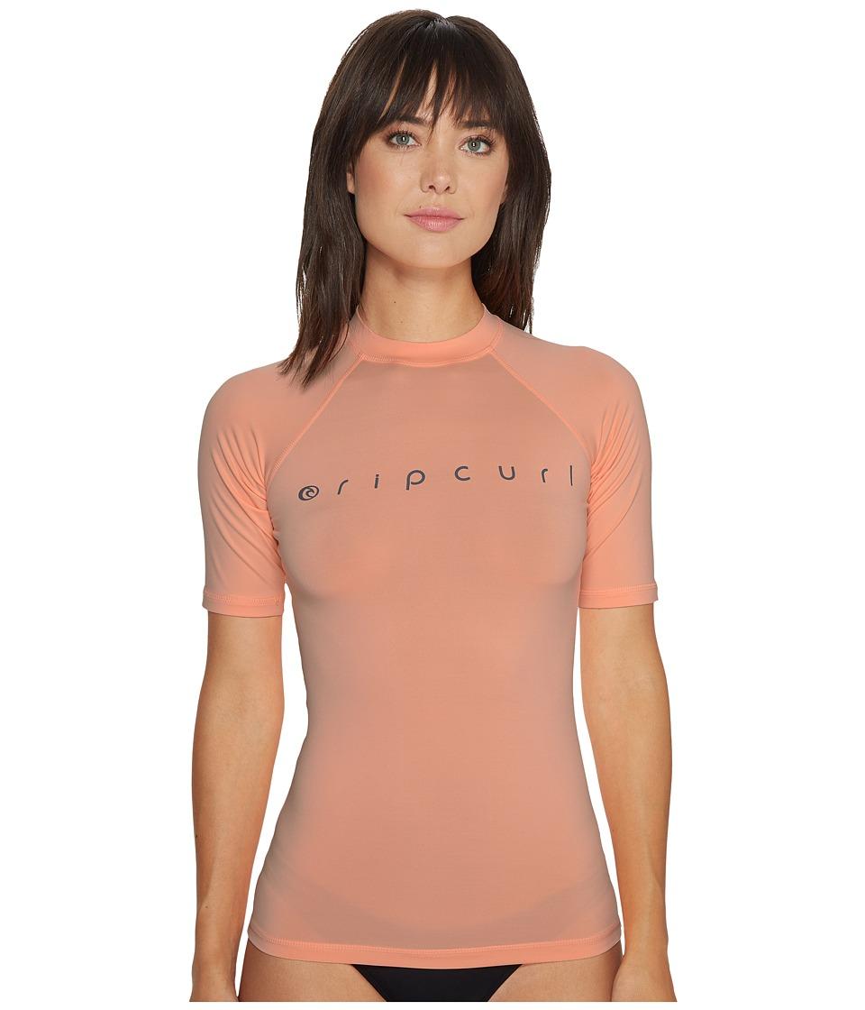 Rip Curl Dawn Patrol UV Tee Short Sleeve (Peach) Women