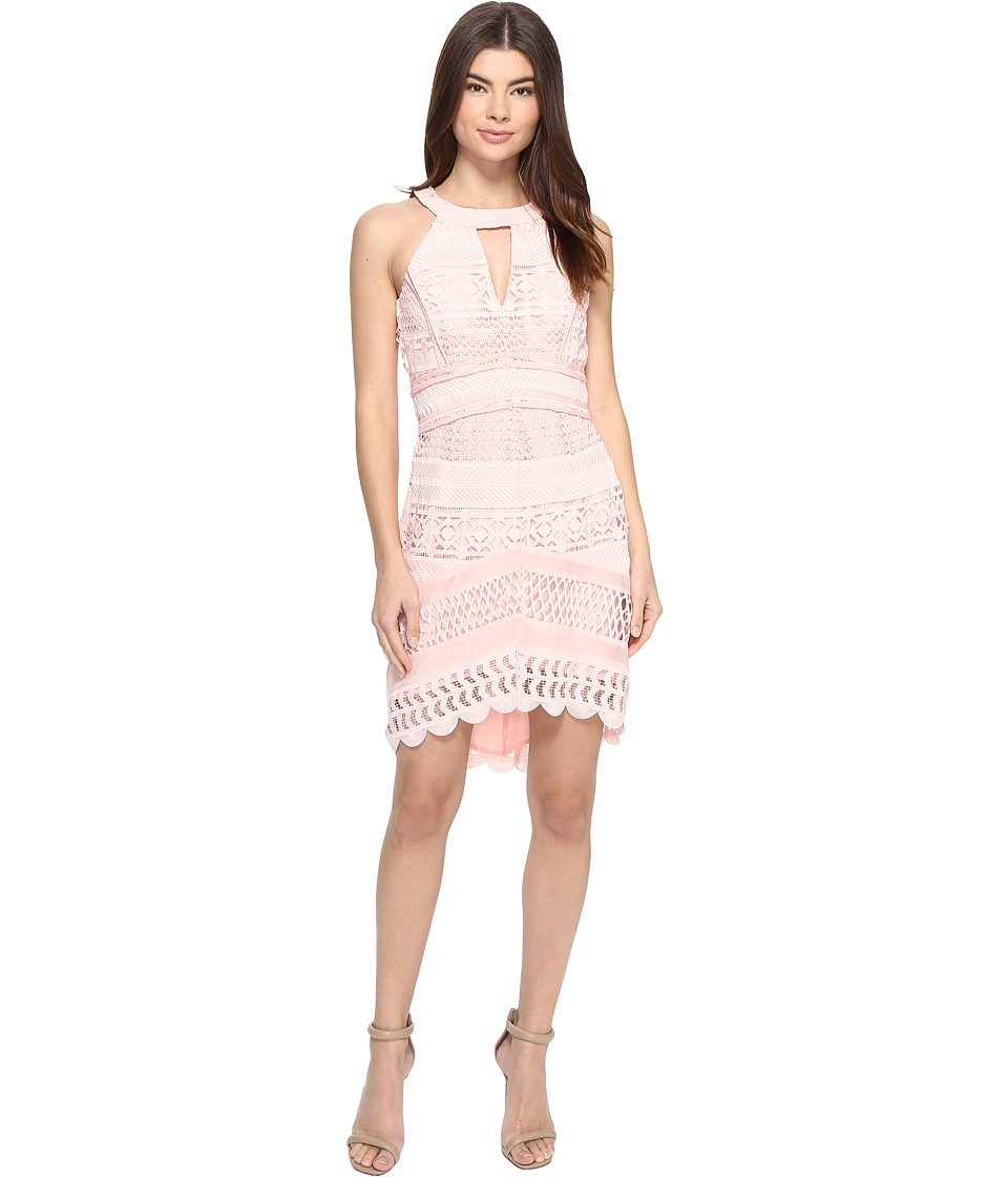 Image of Adelyn Rae - Fitted Lace Dress (Light Pink) Women's Dress