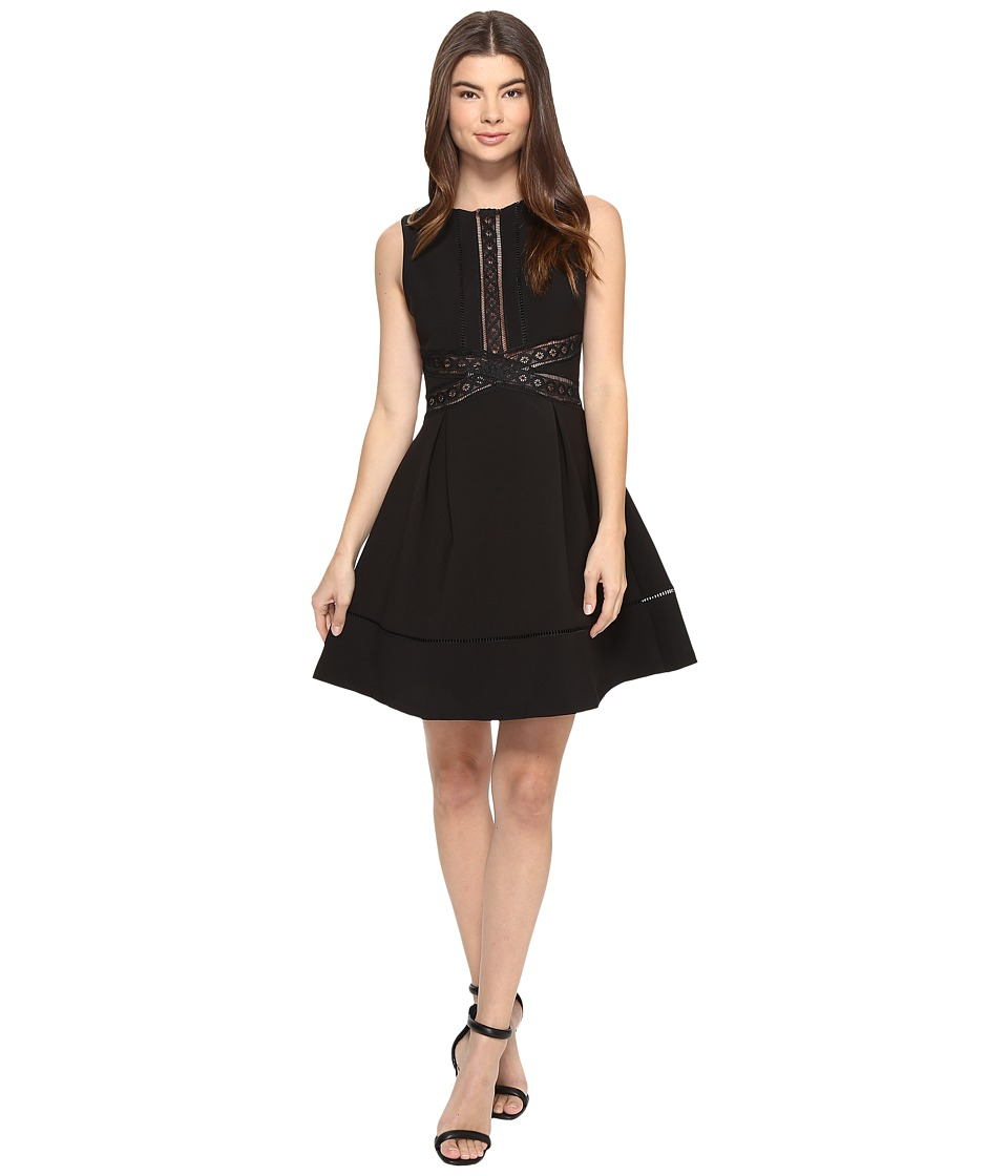 Image of Adelyn Rae - Fit and Flare Dress (Black) Women's Dress