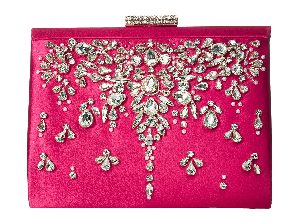 Badgley Mischka Adele (Fuchsia) Clutch Handbags