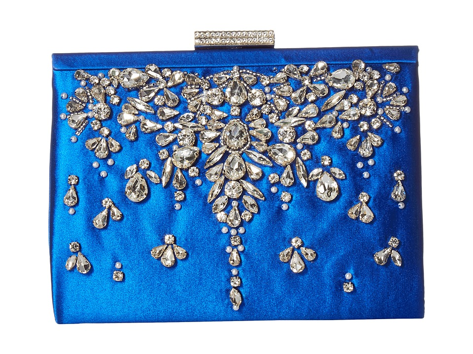 Image of Badgley Mischka - Adele (Sapphire) Clutch Handbags