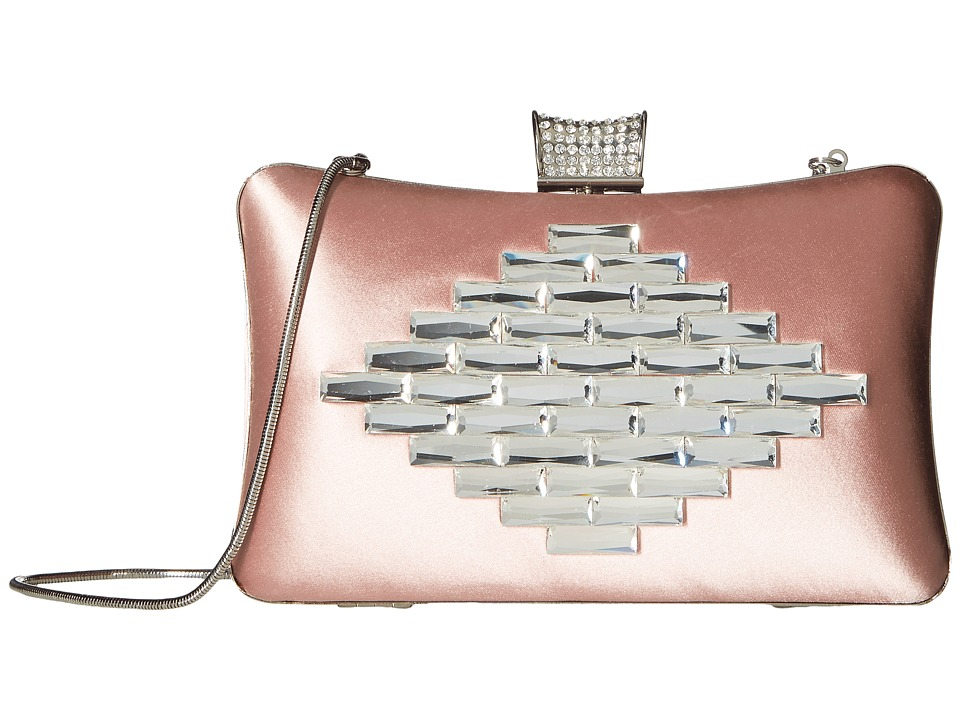 Badgley Mischka Aero (Blush) Clutch Handbags