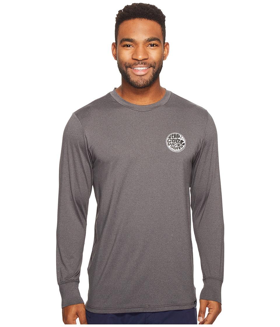 Rip Curl Aggrolite Surf Shirt Long Sleeve (Black) Men