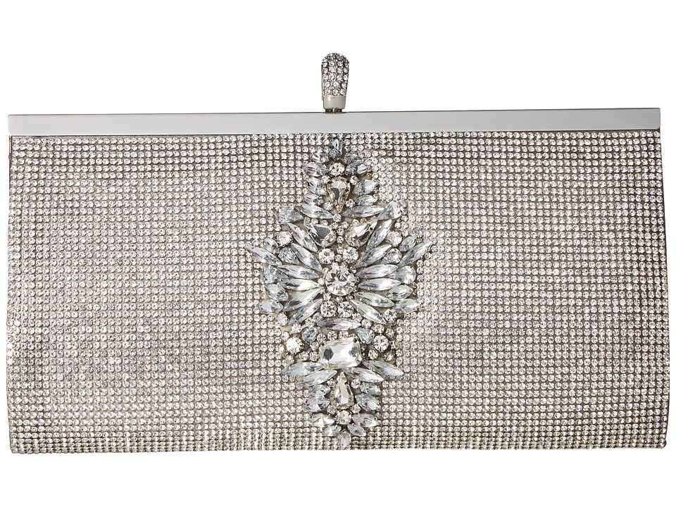 Badgley Mischka Alisha (Silver) Clutch Handbags