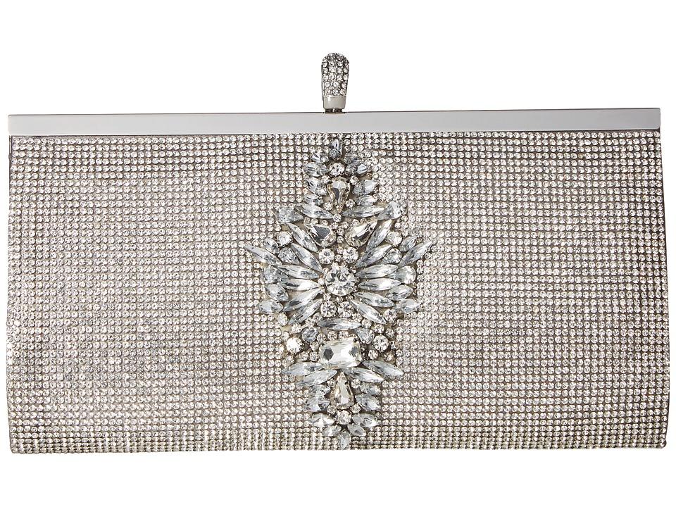 Badgley Mischka Alisha (Silver) Clutch Handbags