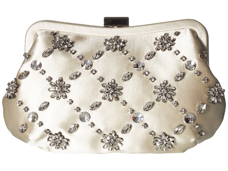 Badgley Mischka Avery (Ivory) Clutch Handbags