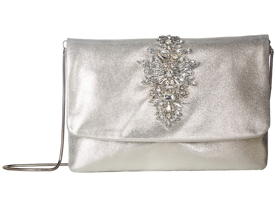 Image of Badgley Mischka - Abby (Silver) Clutch Handbags