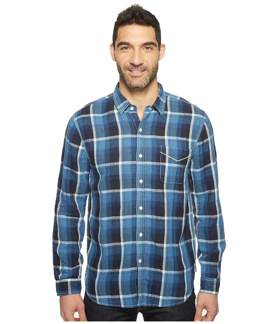 True Grit - Genuine Linen Long Sleeve One-Pocket Shirt Big Plaids