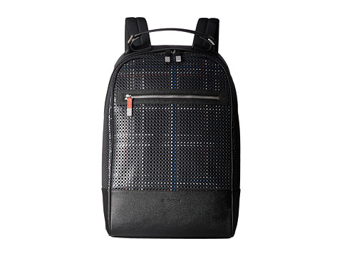 BUGATCHI Nylon with Leather Trim Backpack