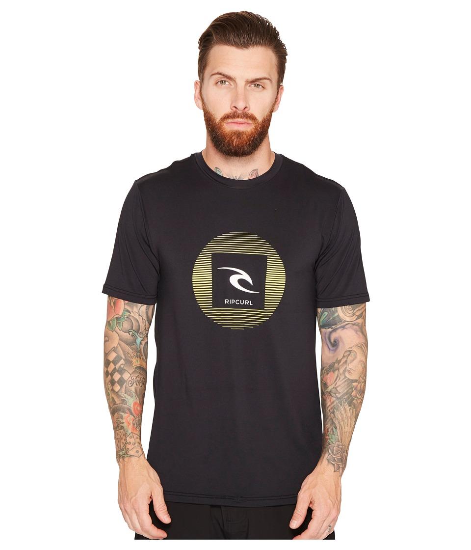 Rip Curl Round Up Short Sleeve Surf Shirt (Black) Men