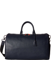BUGATCHI - Semi Embossed Leather Weekender Duffel Bag