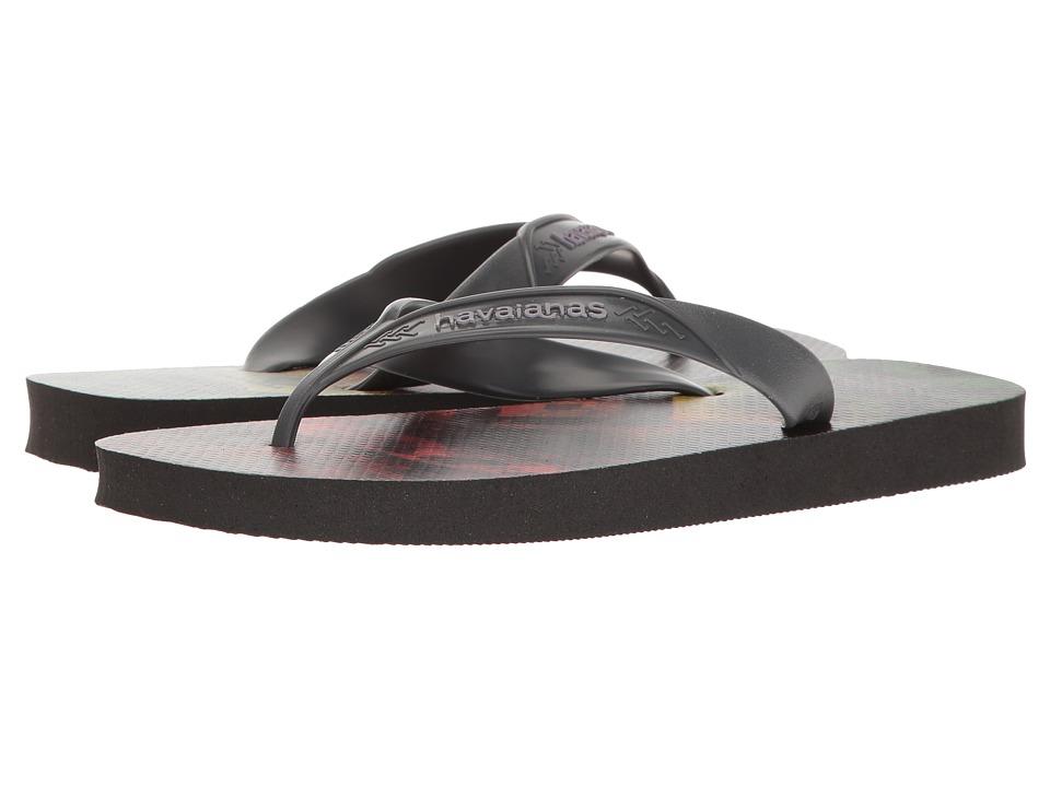 Havaianas Surf Flip Flops (Black/Grey 1) Men