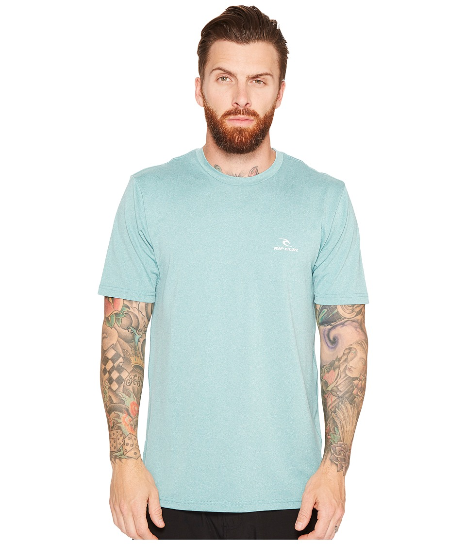 Rip Curl - Search Series Short Sleeve (Aqua) Mens Swimwear